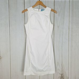CeCe White Zipper Sleeveless Shift Dress
